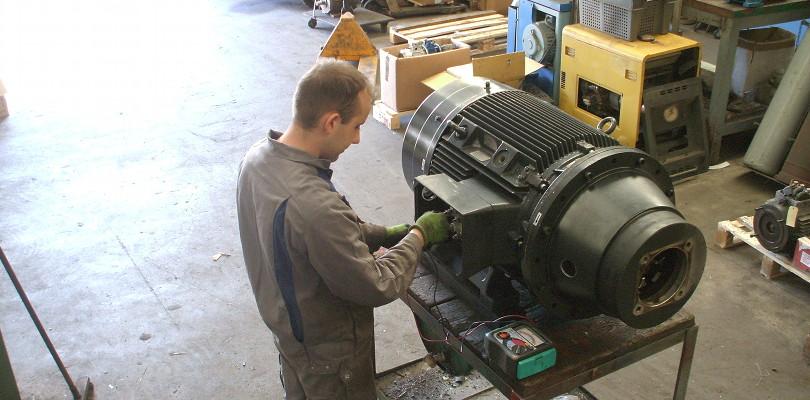 Réparation de moteur électrique